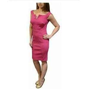 Zac Posen Pink Fitted Structured Sheath Dress SZ 6